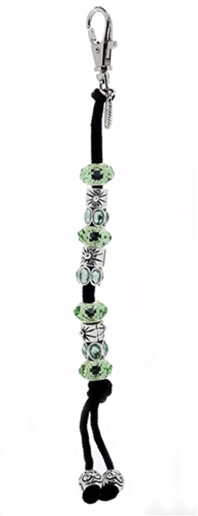 Green Crystal Mantra Bead Golf Stroke Counter