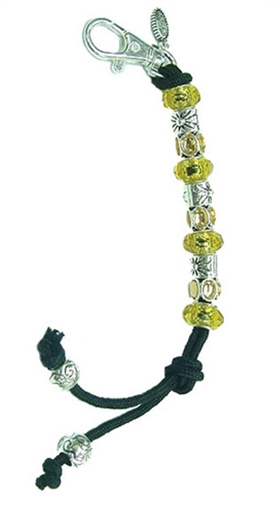 Yellow Crystal Mantra Bead Golf Stroke Counter