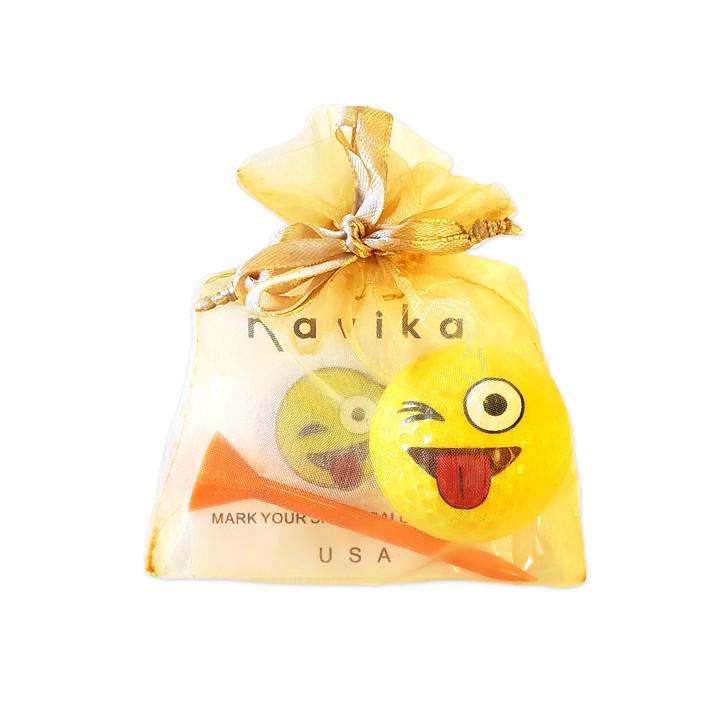 Gift Set - Emoji JK Glitzy Ball Marker and Golf Ball Gift Set