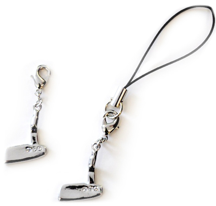 PUTTER Cell Phone/Shoe Charm/Zipper Pull adorned with Crystals from Swarovski®