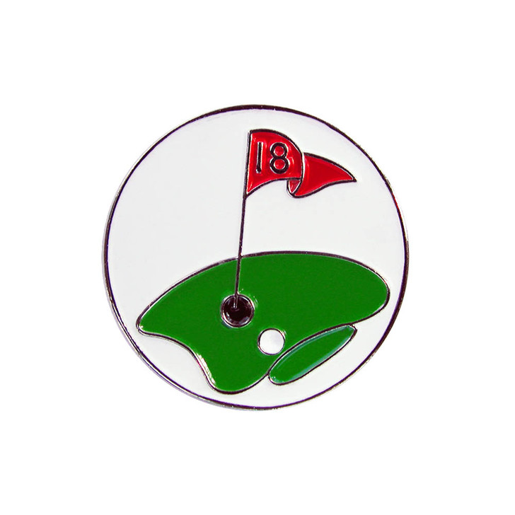18th Hole Ball Marker with Hat Clip