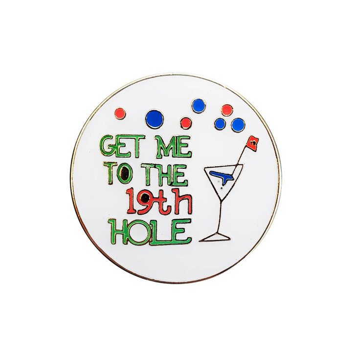 19th Hole Ball Marker with Hat Clip