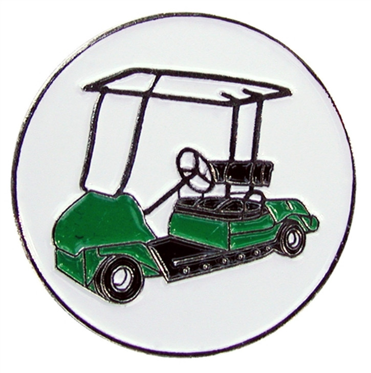 Golf Cart Ball Marker with Hat Clip