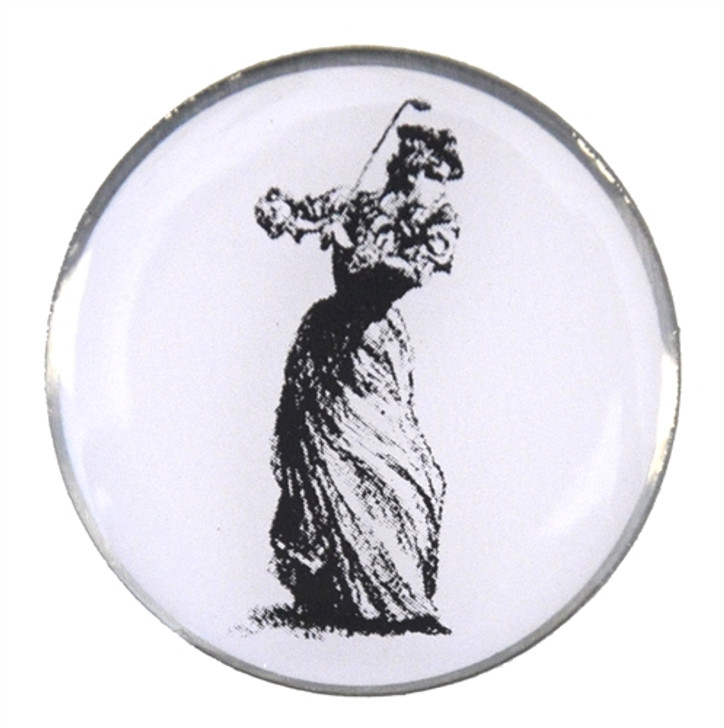 Victorian Lady Ball Marker with Hat Clip