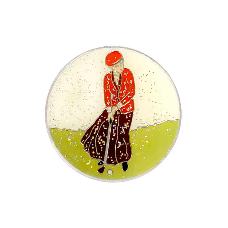Classic Lady Glitzy Ball Marker with Hat Clip