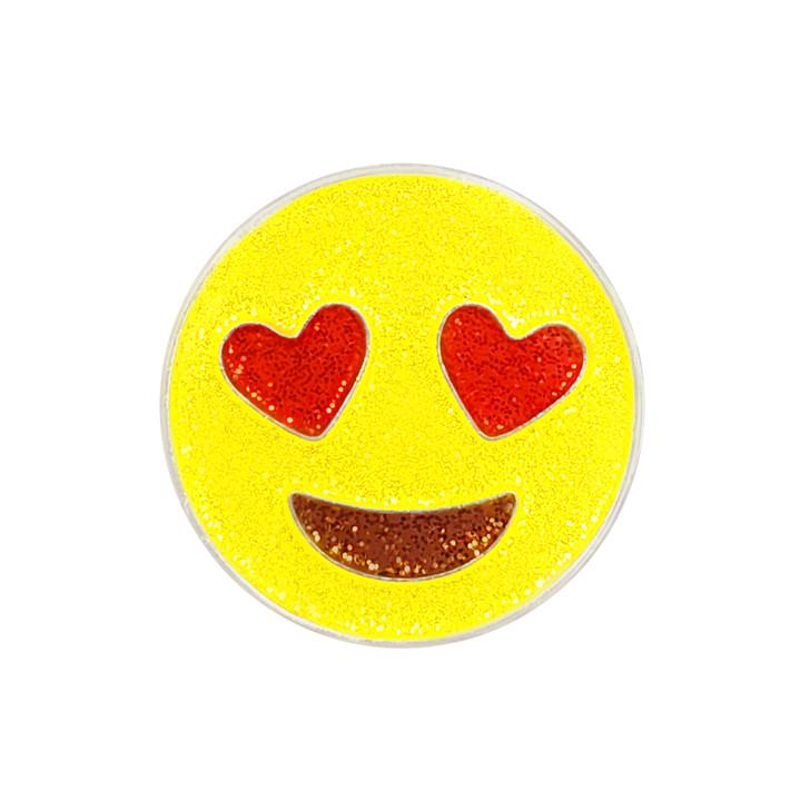 Emoji Love Glitzy Ball Marker with Hat Clip