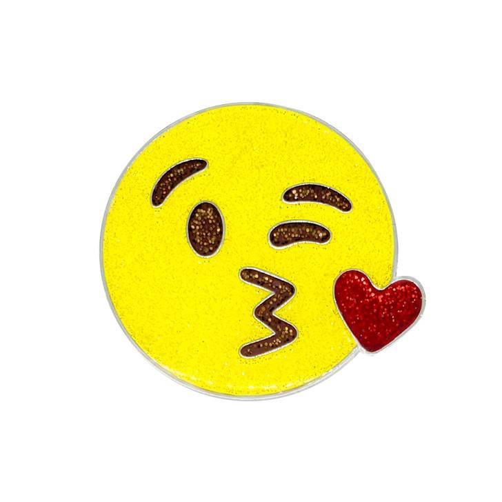 Emoji Mwah Glitzy Ball Marker with Hat Clip