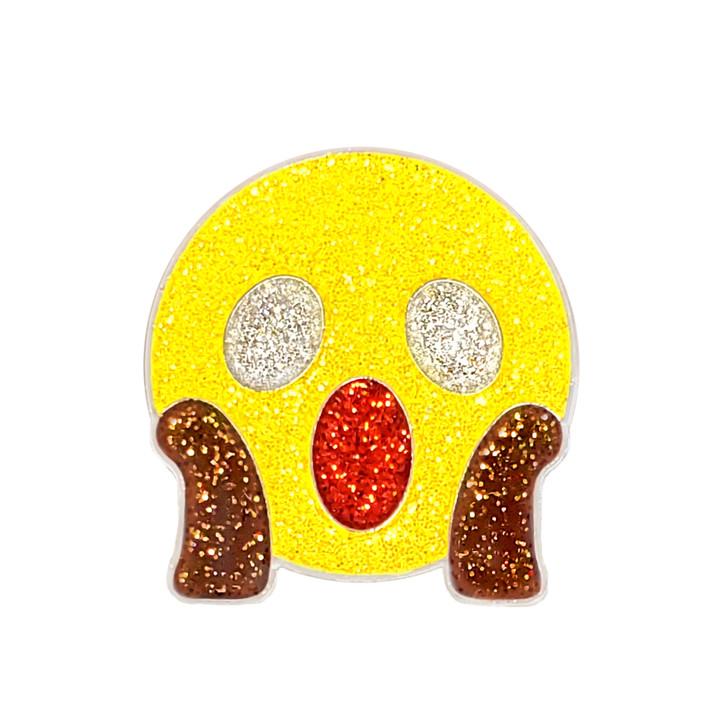 Emoji WOW Glitzy Ball Marker with Hat Clip