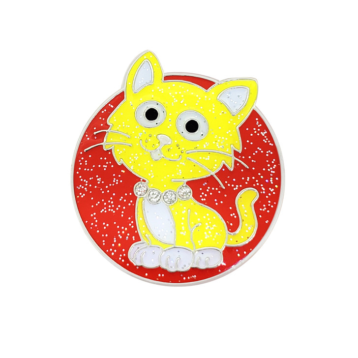 Fluffy Kitty Glitzy Ball Marker with Hat Clip