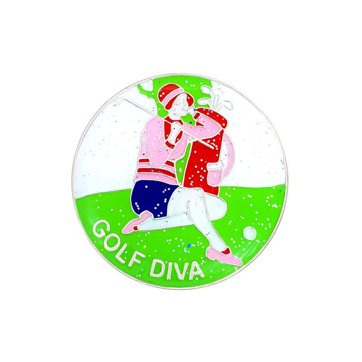Golf Diva Glitzy Ball Marker with Hat Clip