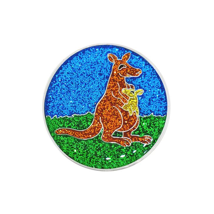 Kangaroo Glitzy Ball Marker with Hat Clip