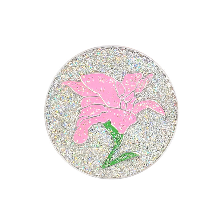 Lily Glitzy Golf Ball Marker with Hat Clip
