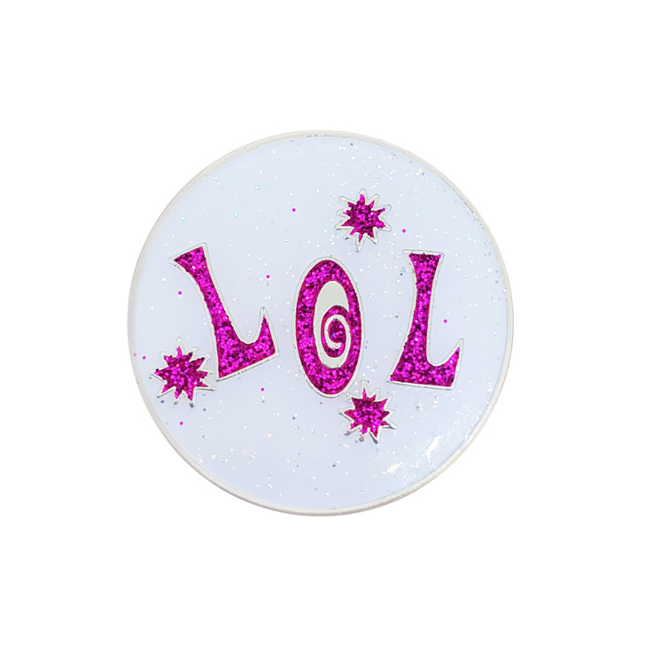 LOL (Laugh Out Loud) Glitzy Ball Marker with Hat Clip