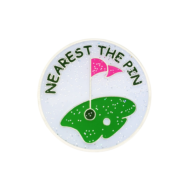 Nearest The Pin Glitzy Ball Marker with Hat Clip
