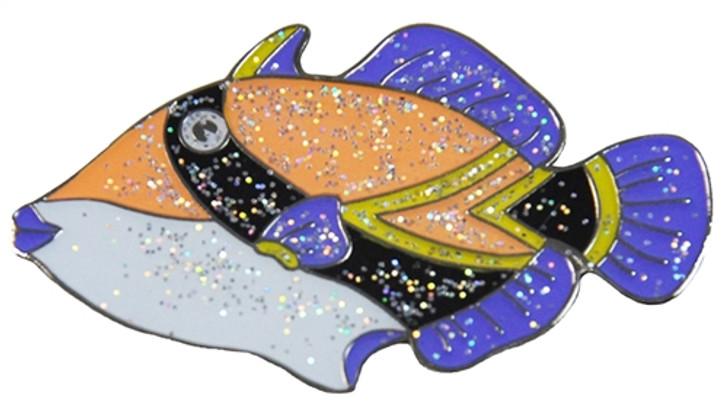 NukuNuku Hawaiian State Fish Glitzy Ball Marker with Hat Clip