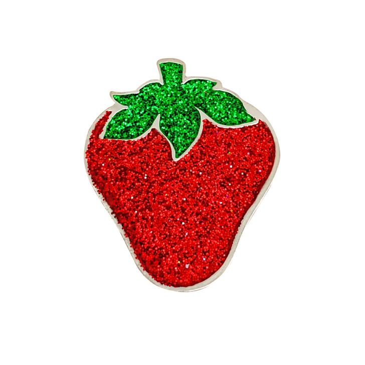 Strawberry Glitzy Ball Marker with Hat Clip