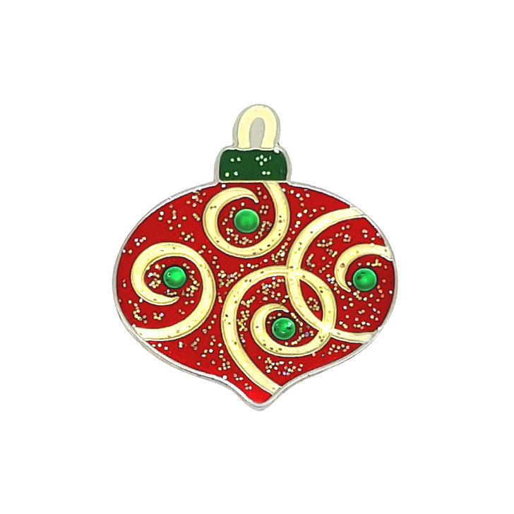 Christmas Ornament Glitzy Ball Marker adorned with Crystals from Swarovski® and Hat Clip