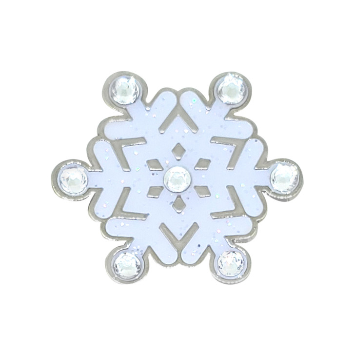 Christmas Snowflake Glitzy Ball Marker adorned with Crystals from Swarovski® and Hat Clip