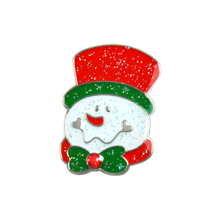 Christmas Snowman Glitzy Ball Marker adorned with Crystal from Swarovski® and Hat Clip