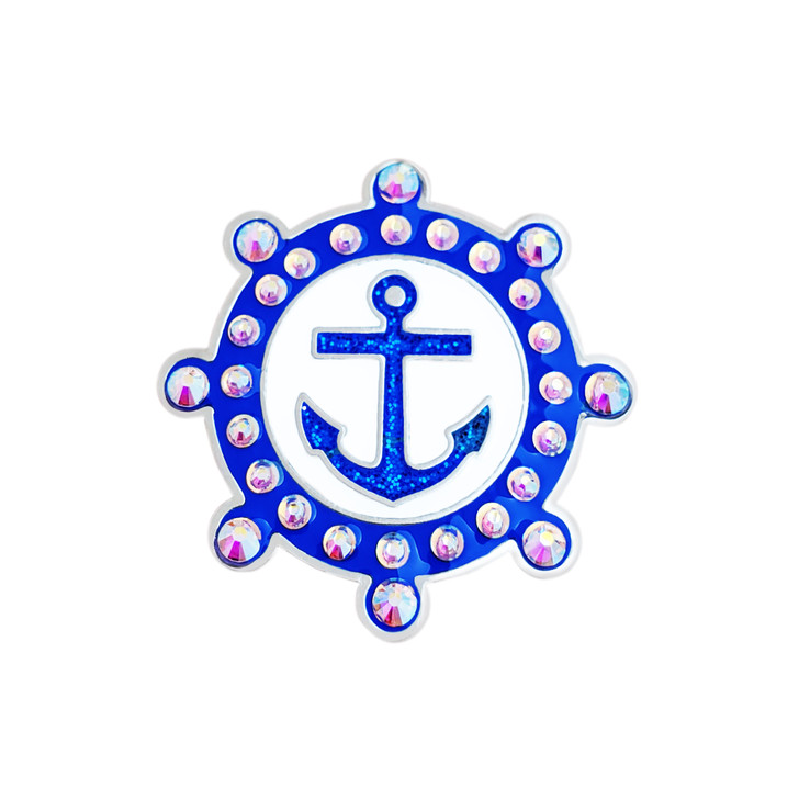 Anchor Ball Marker adorned with Crystals from Swarovski®- with Hat Clip