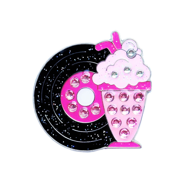 At the Hop Ball Marker adorned with Crystals from Swarovski®- with Hat Clip