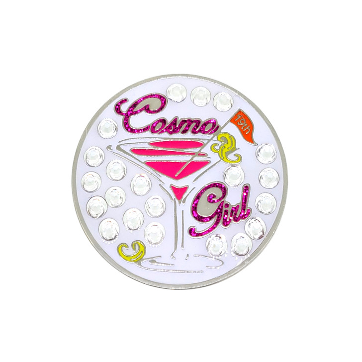 Cosmo Girl Ball Marker adorned with Crystals from Swarovski®- with Hat Clip