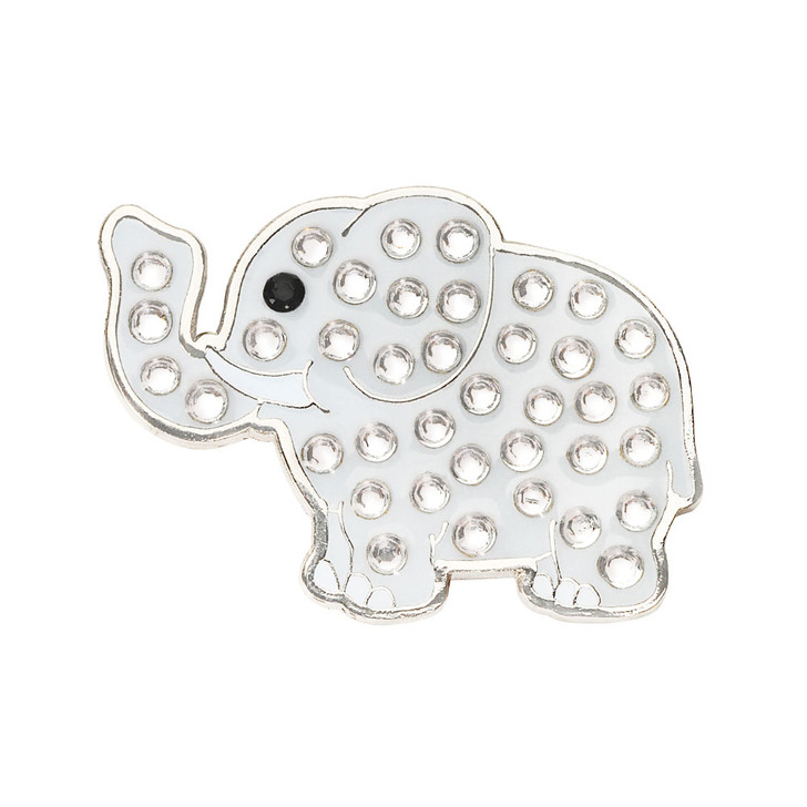Elephant Ball Marker adorned with Crystals from Swarovski®- with Hat Clip