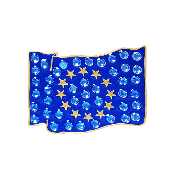 EU Flag Ball Marker adorned with Crystals from Swarovski®- with Hat Clip