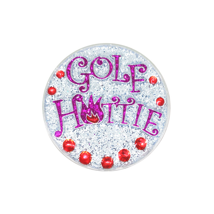 Golf Hottie Ball Marker adorned with Crystals from Swarovski®- with Hat Clip