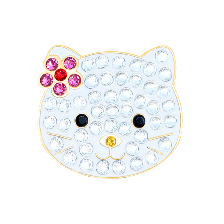 Kitty Ball Marker adorned with Crystals from Swarovski®- with Hat Clip
