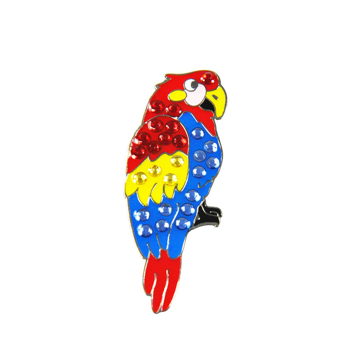 Parrot Ball Marker adorned with Crystals from Swarovski®- with Hat Clip