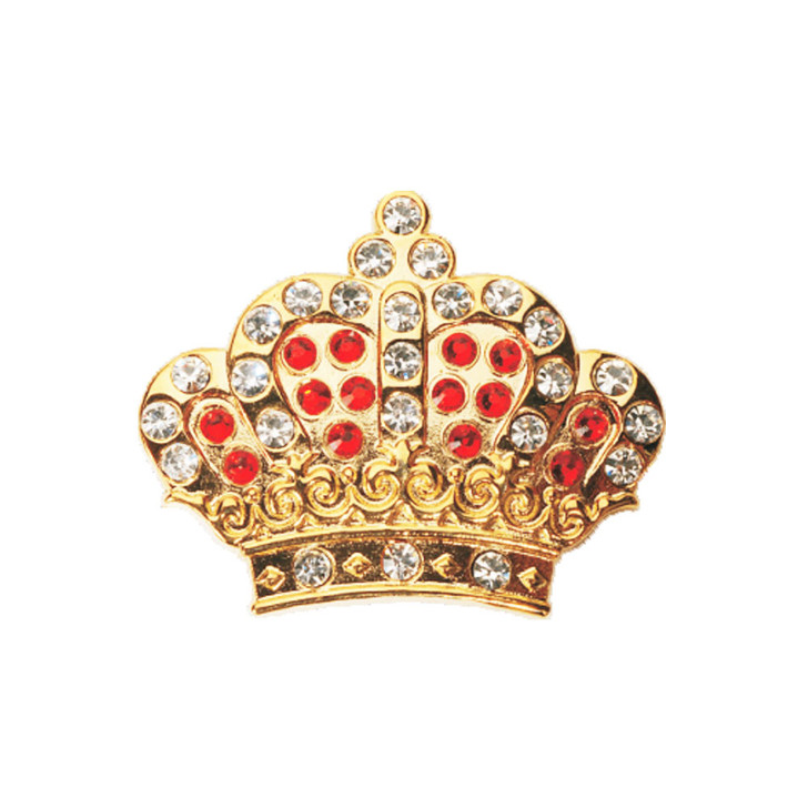 Red Royal Crown Ball Marker adorned with Crystals from Swarovski®- with Hat Clip