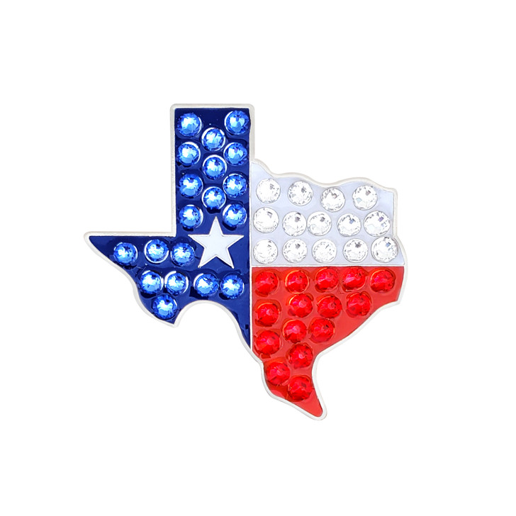 Texas Flag Ball Marker adorned with Crystals from Swarovski®- with Hat Clip