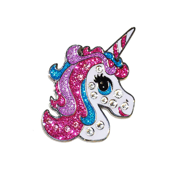 Unicorn Ball Marker adorned with Crystals from Swarovski®- with Hat Clip