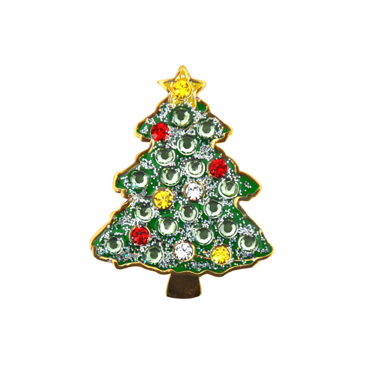 Christmas Tree Glitz Ball Marker adorned with Crystals from Swarovski®- with Hat Clip