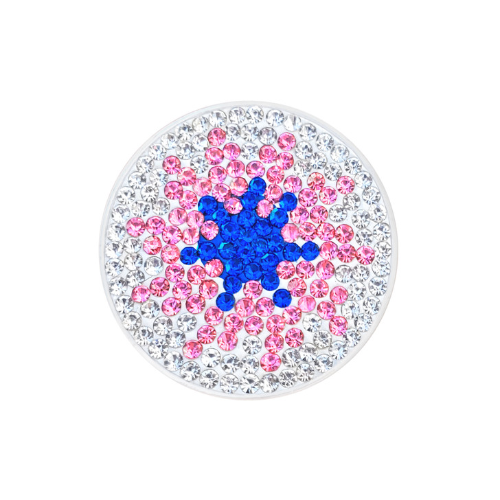 """Micro Pave Crystal """"Twilight"""" Ball Marker w/ Hat Clip"""