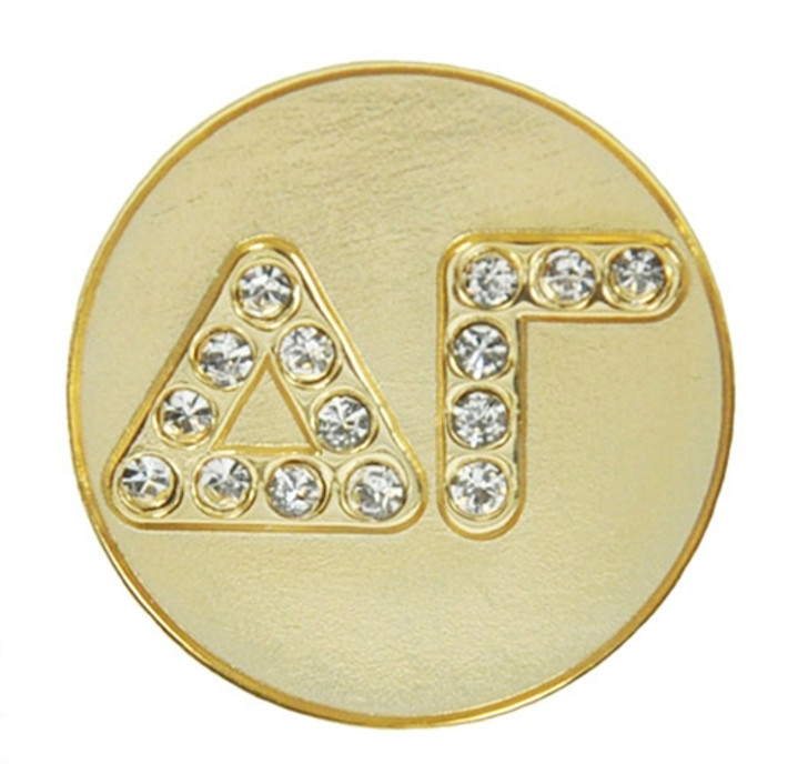 Delta Gamma Crystal Letter Sorority Magnetic Ball Marker and Hat Clip