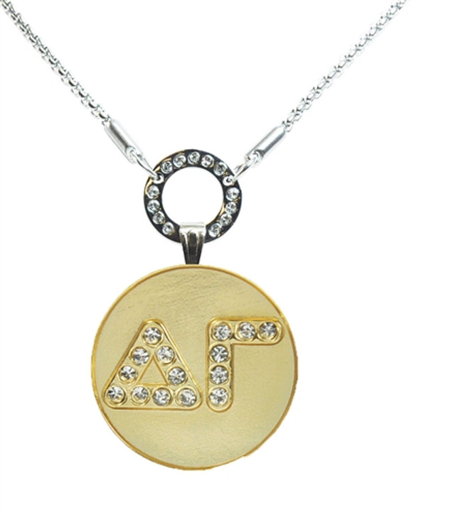Delta Gamma Crystal Ball Marker Necklace
