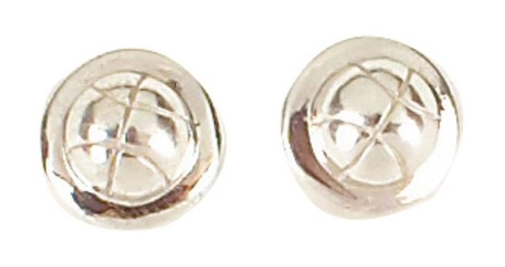 Sterling Silver Tennis Ball Earrings