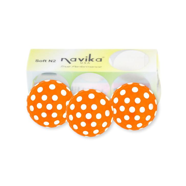 Golf Balls - Polka Dot Orange/White
