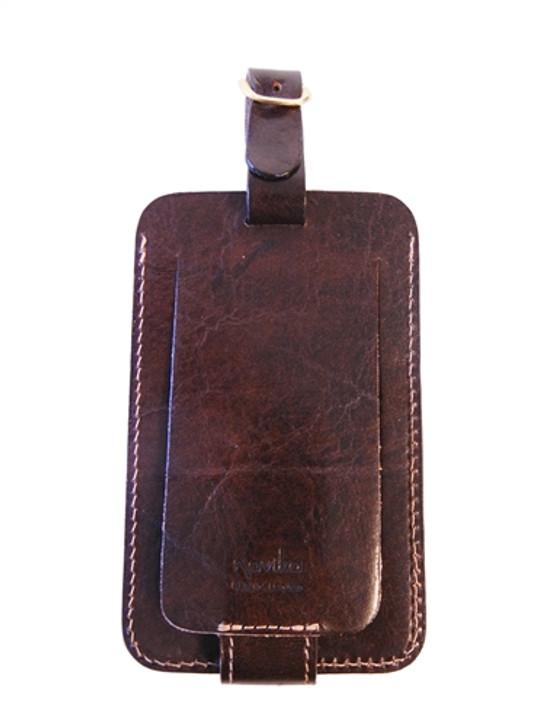 Vintage Male Golfer Embossed Leather Luggage/Bag Tag