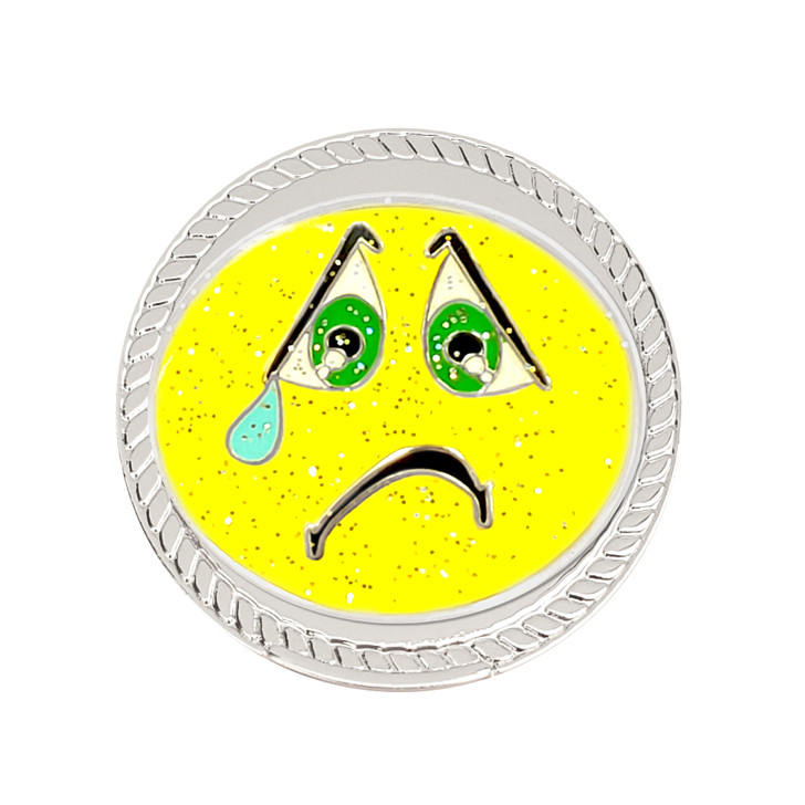 It Sucks (Sad Face) Glitzy Magnetic Kicks Candy Shoe Ball Marker