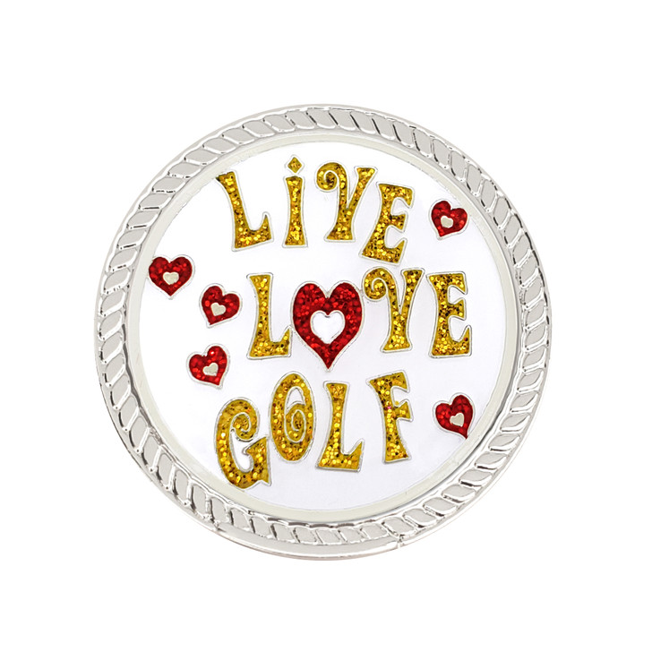 Live Love Golf Glitzy Magnetic Kicks Candy Shoe Ball Marker