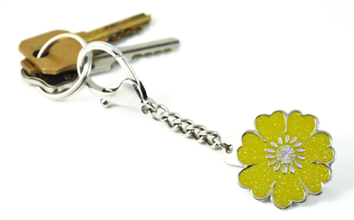 Yellow Flower Key Keyper Keychain