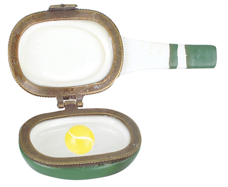 Tennis Racquet Porcelain Box