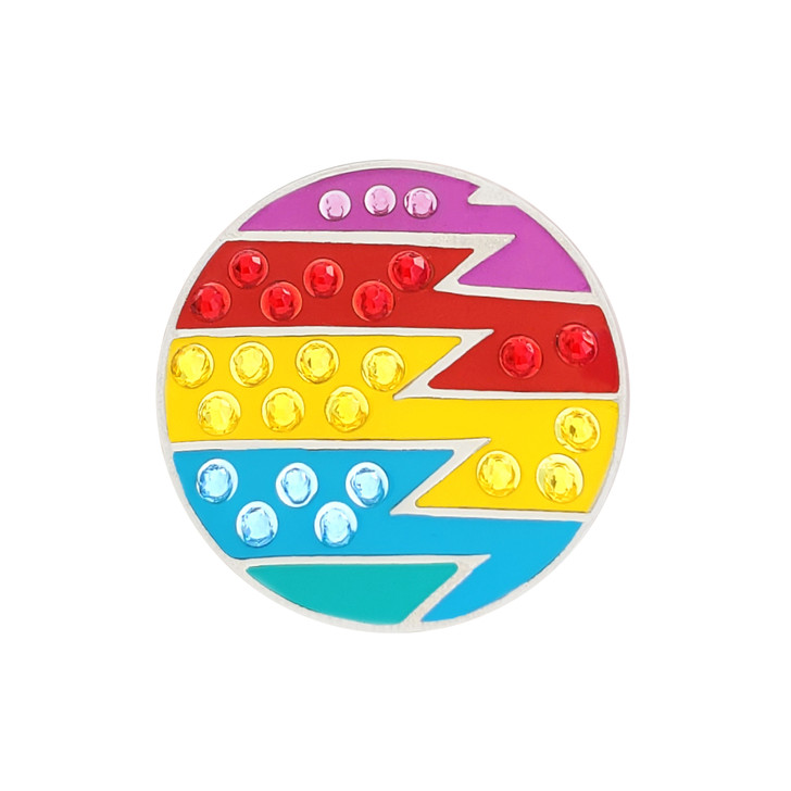 Loudmouth Captain Thunderbolt Ball Marker adorned with Crystals from Swarovski®- with Hat Clip