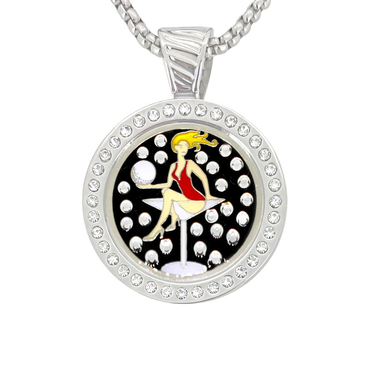 Chameleon Magnetic Necklace with Interchangeable  Swarovski Crystal Ball Marker Golfaholic