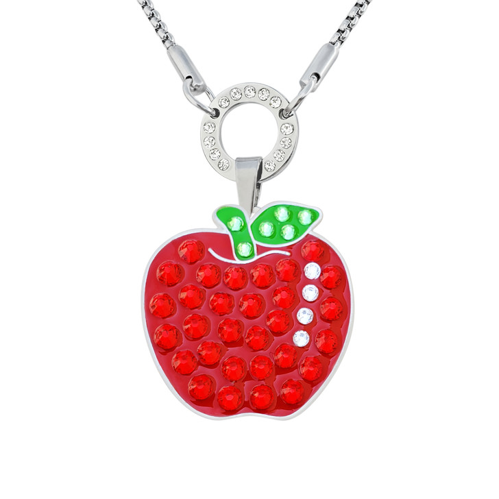 Allure Magnetic Necklace With Interchangeable Swarovski Crystal Ball Marker Apple