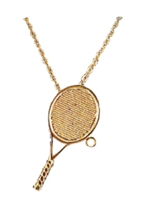 Tennis Racquet and Pearl Necklace