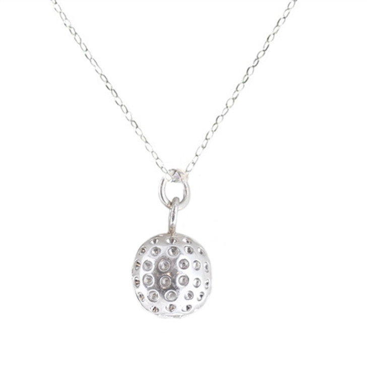 Navika Silver Golf Ball Necklace